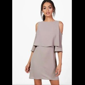Cold Shoulder Double Layer Dress